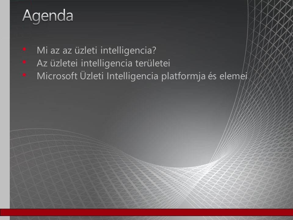 Agenda Mi az az üzleti intelligencia
