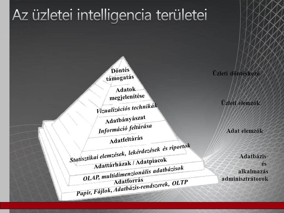 Az üzletei intelligencia területei