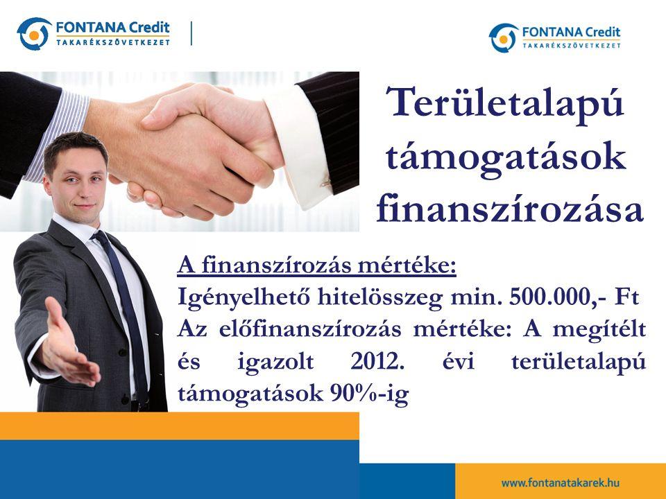 Területalapú támogatások finanszírozása