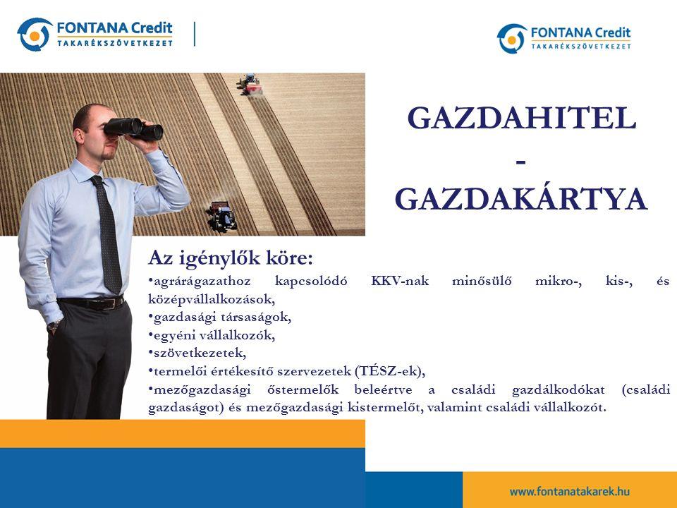 GAZDAHITEL - GAZDAKÁRTYA