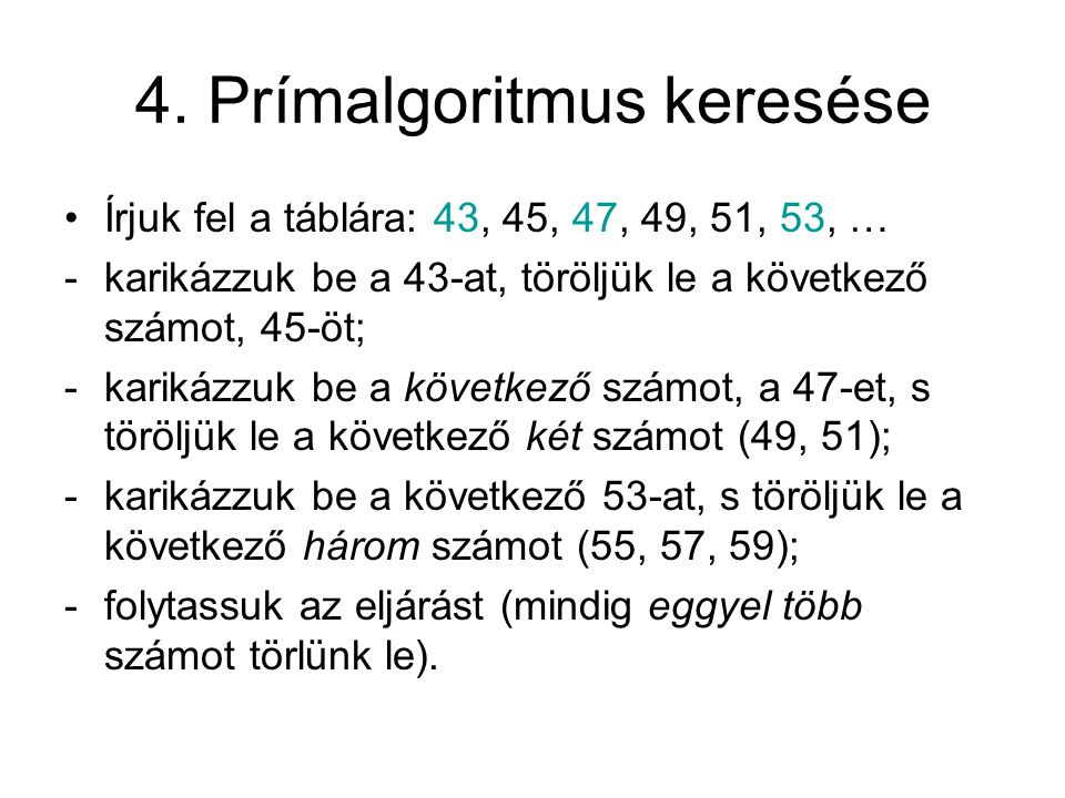 4. Prímalgoritmus keresése