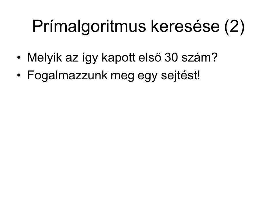 Prímalgoritmus keresése (2)