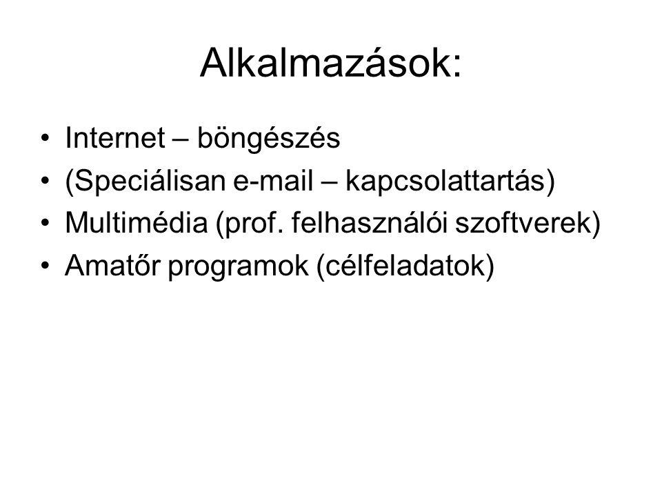 Alkalmazások: Internet – böngészés