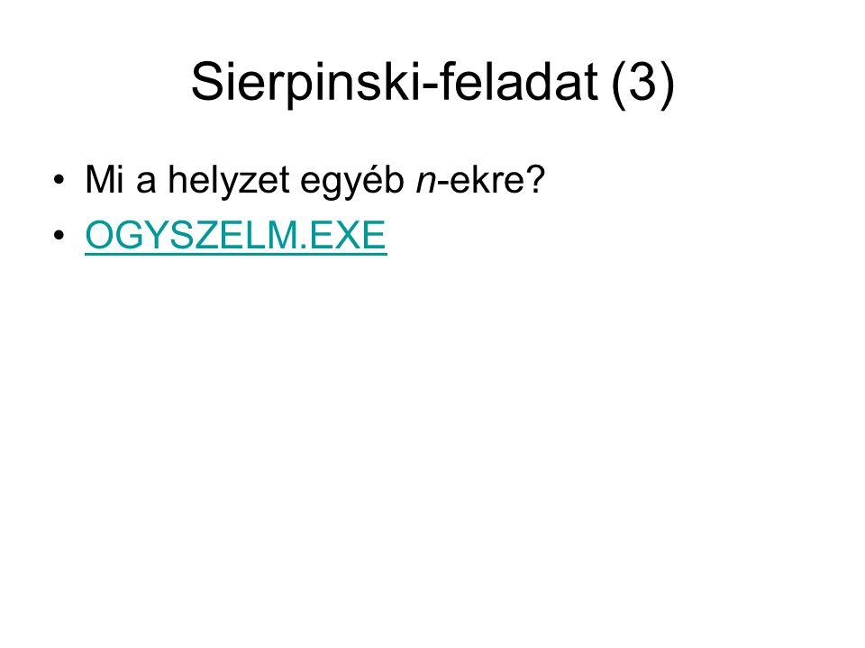 Sierpinski-feladat (3)