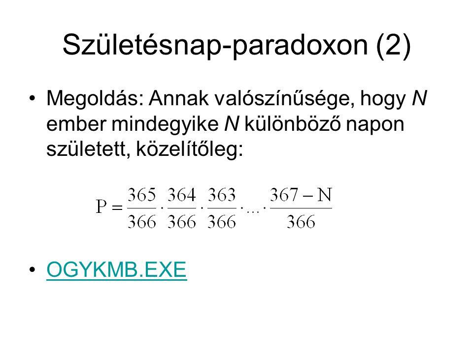 Születésnap-paradoxon (2)