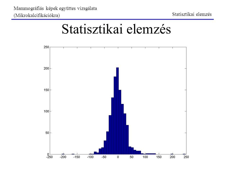 Statisztikai elemzés Mammográfiás képek együttes vizsgálata