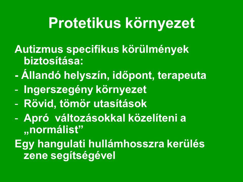 Protetikus környezet Autizmus specifikus körülmények biztosítása: