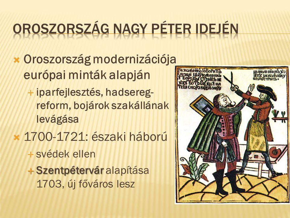 Oroszország Nagy Péter idején