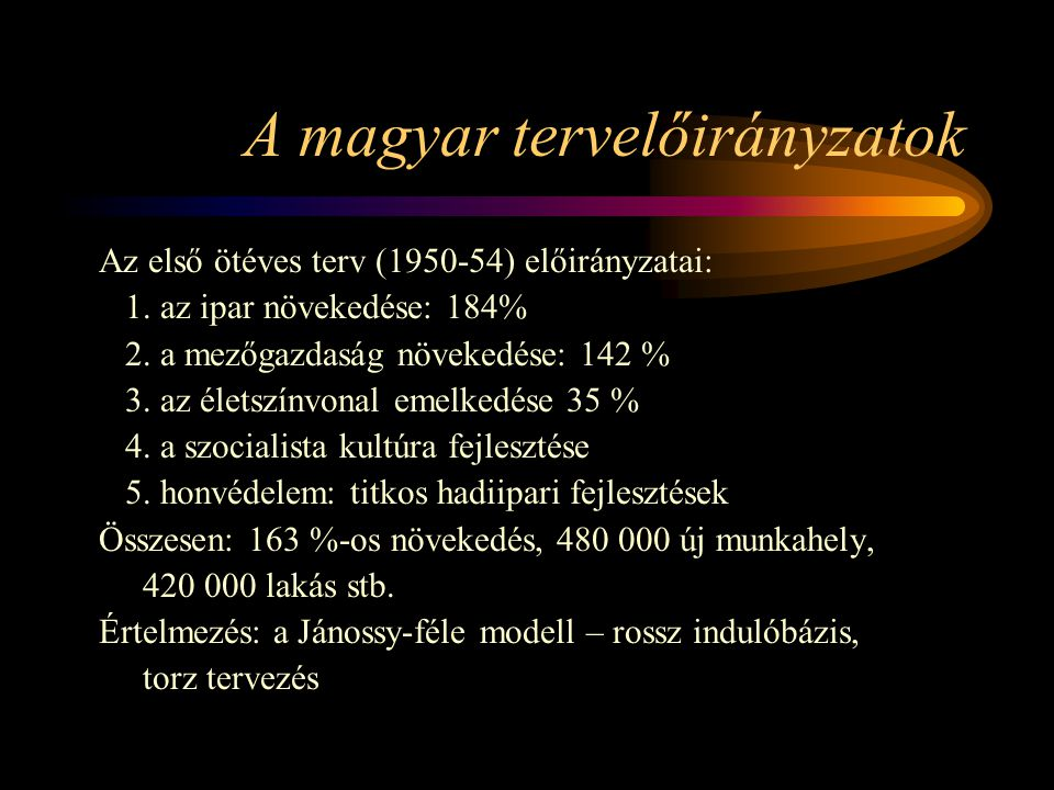A magyar tervelőirányzatok