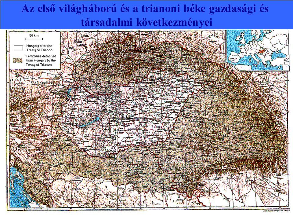 Az első világháború és a trianoni béke gazdasági és