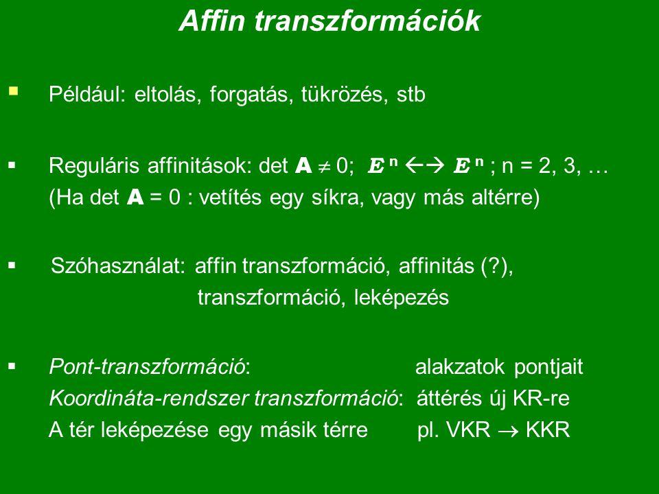 Affin transzformációk