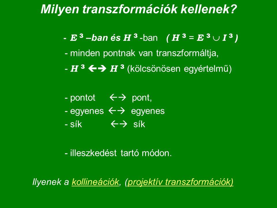 Milyen transzformációk kellenek