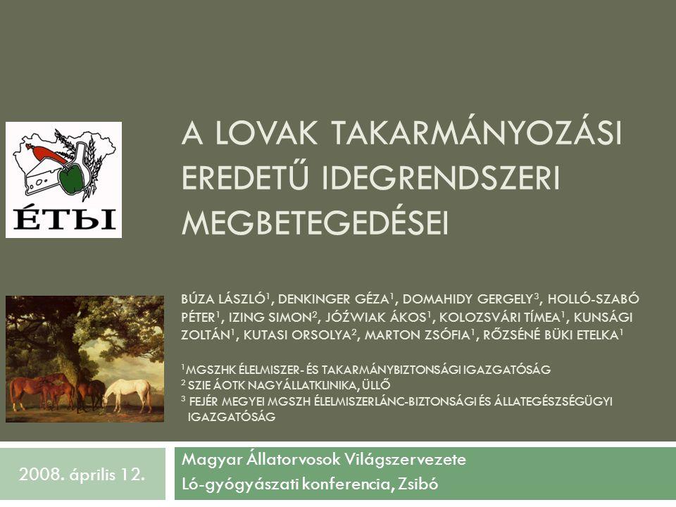 Magyar Állatorvosok Világszervezete Ló-gyógyászati konferencia, Zsibó