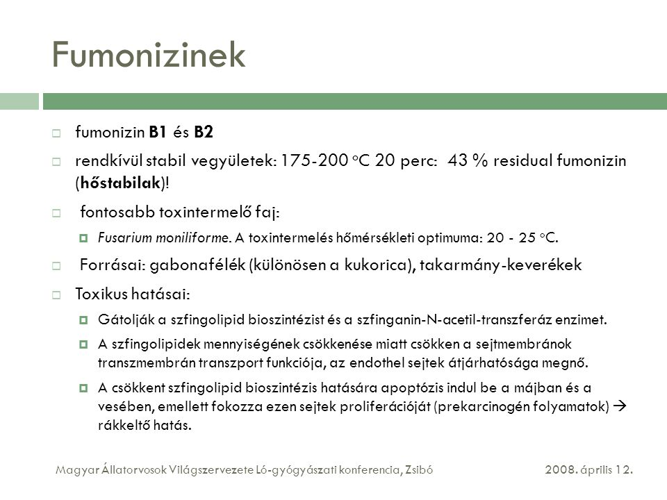 Fumonizinek fumonizin B1 és B2