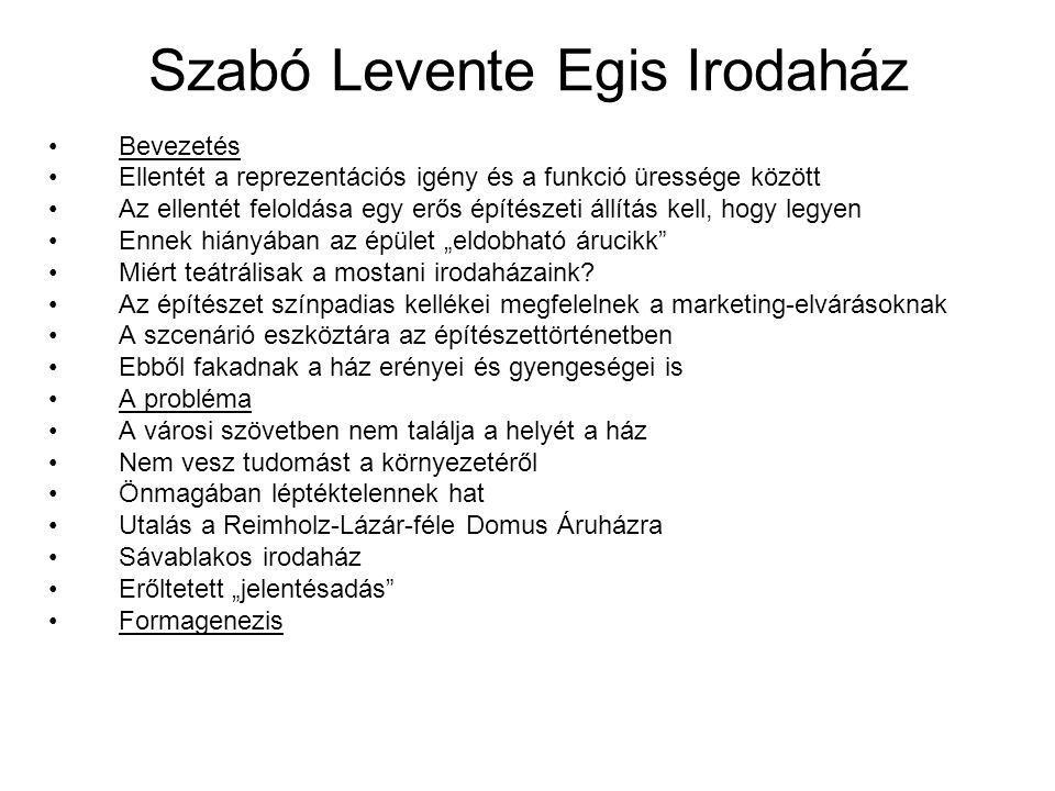Szabó Levente Egis Irodaház