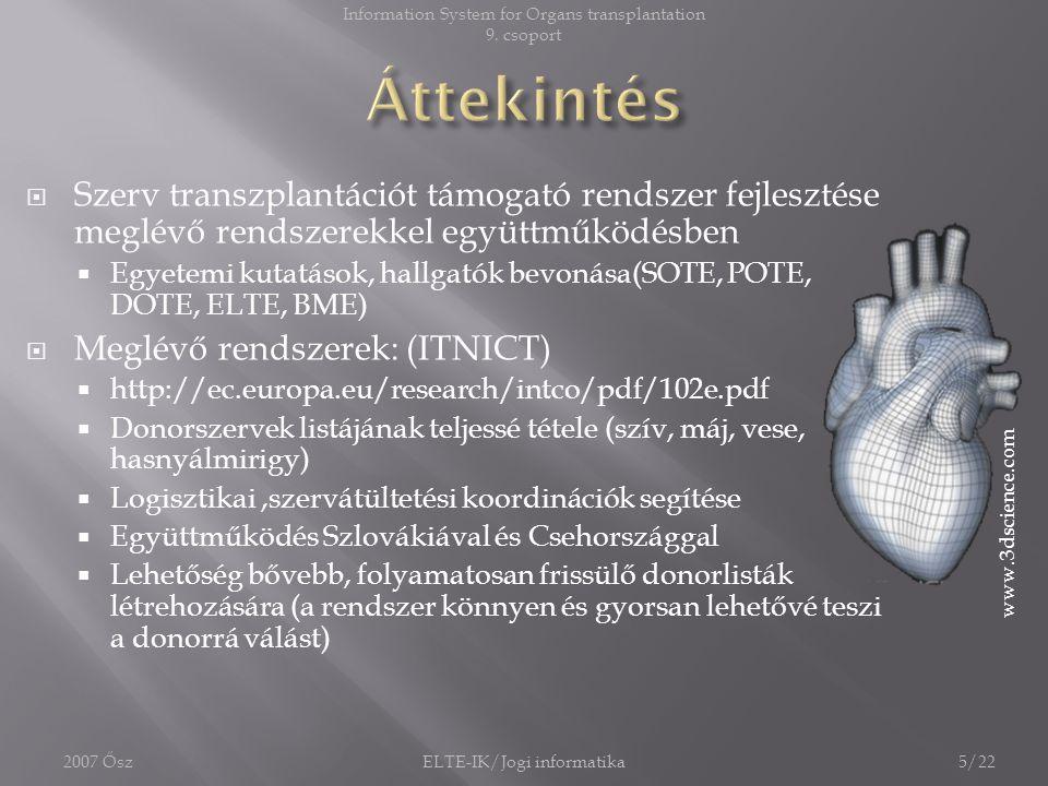 Information System for Organs transplantation
