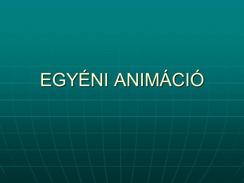 EGYÉNI ANIMÁCIÓ