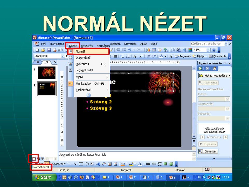 NORMÁL NÉZET