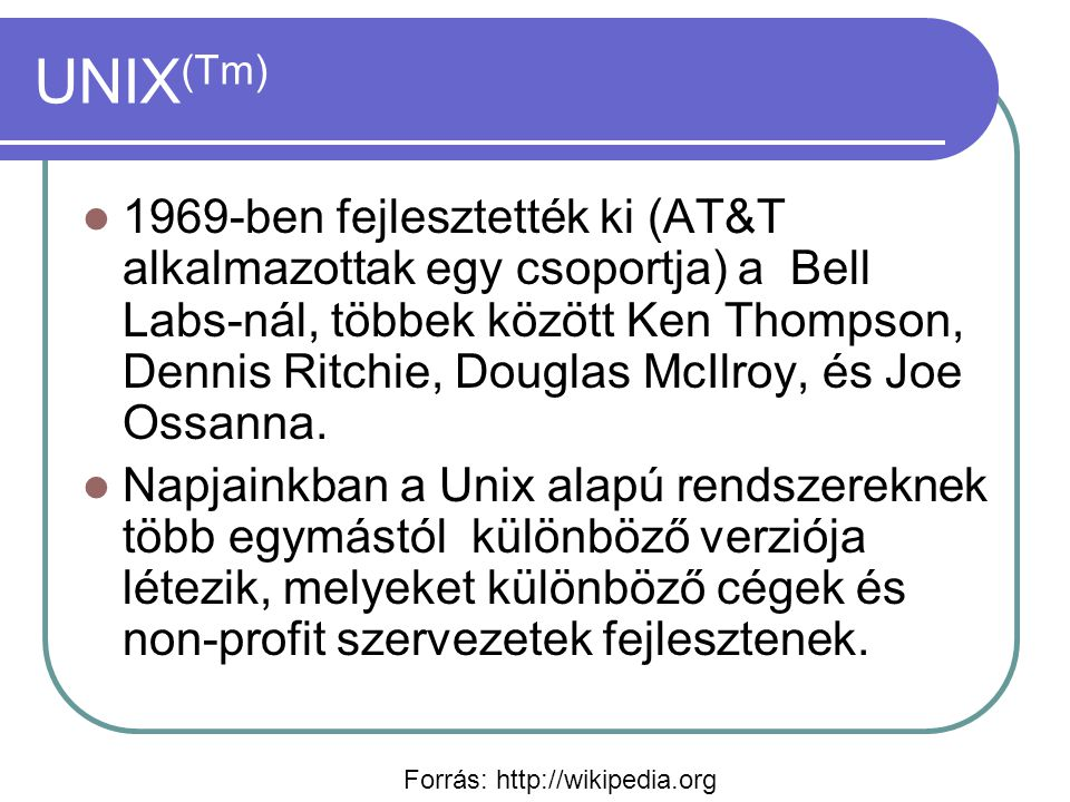 UNIX(Tm)
