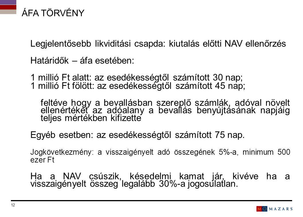 Legjelentősebb likviditási csapda: kiutalás előtti NAV ellenőrzés