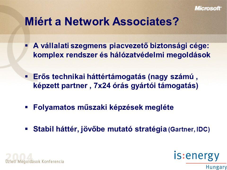 Miért a Network Associates