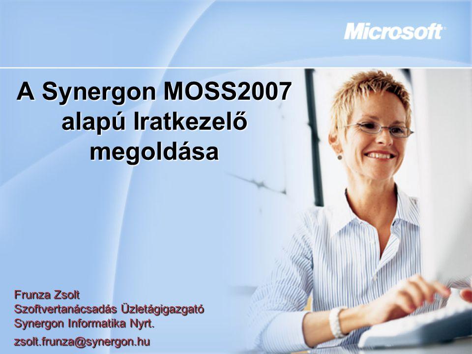 A Synergon MOSS2007 alapú Iratkezelő megoldása