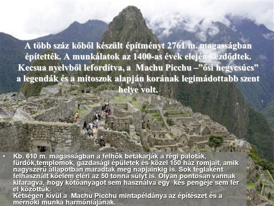 A több száz kőből készült építményt 2761 m. magasságban építették