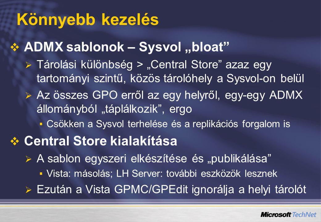 """Könnyebb kezelés ADMX sablonok – Sysvol """"bloat"""