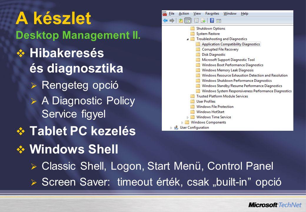 A készlet Desktop Management II.