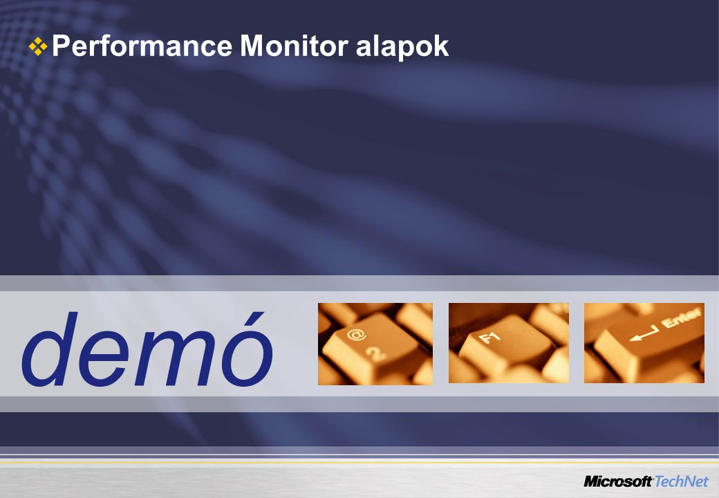 Performance Monitor alapok