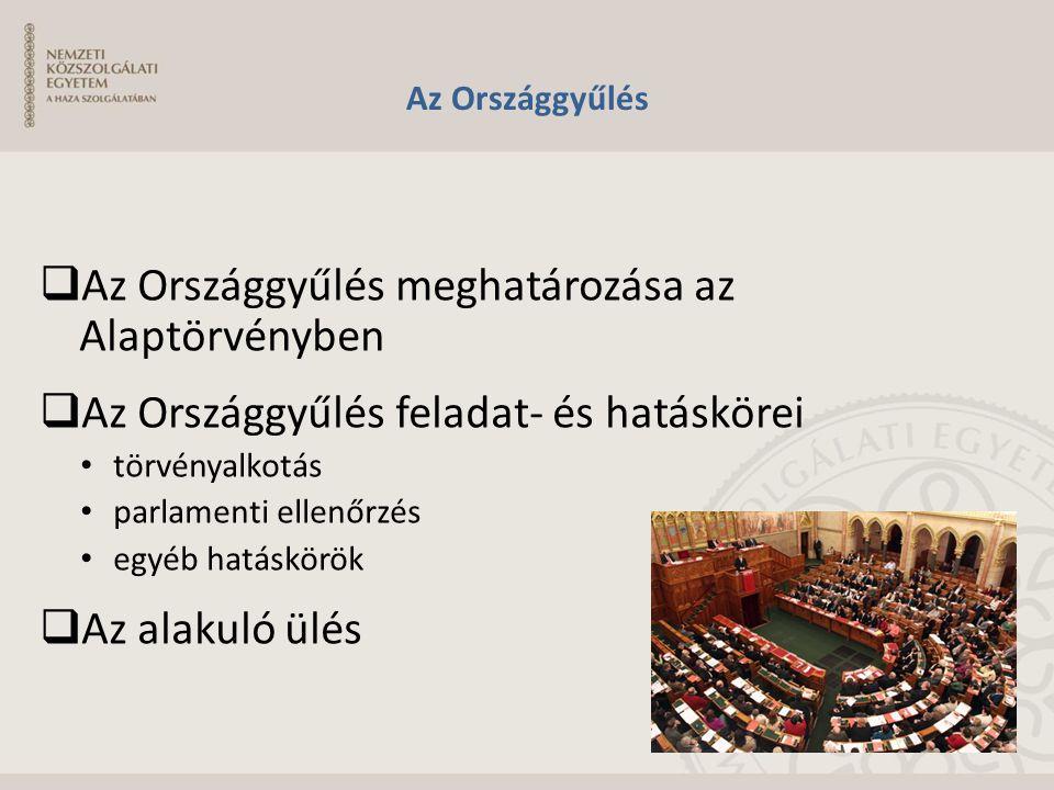 Az Országgyűlés meghatározása az Alaptörvényben