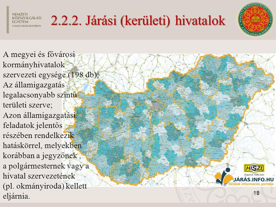 2.2.2. Járási (kerületi) hivatalok