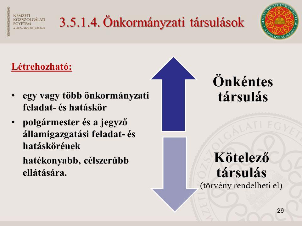 3.5.1.4. Önkormányzati társulások