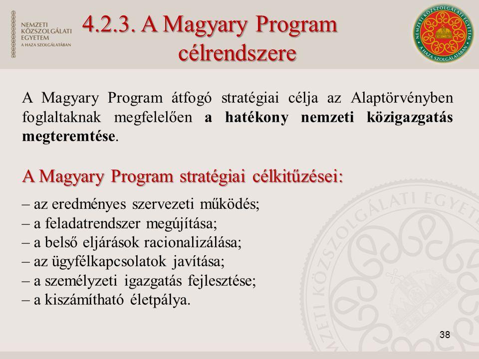4.2.3. A Magyary Program célrendszere