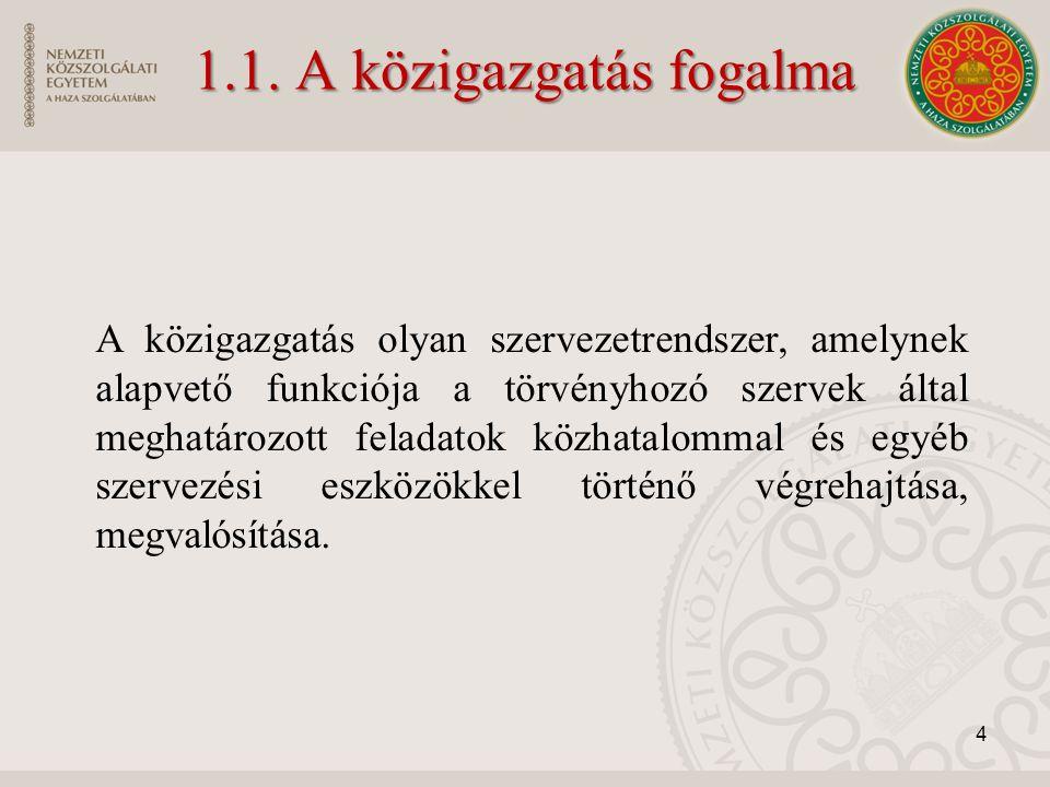 1.1. A közigazgatás fogalma