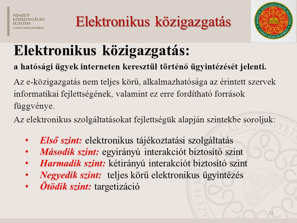 Elektronikus közigazgatás
