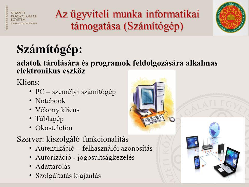 Az ügyviteli munka informatikai támogatása (Számítógép)