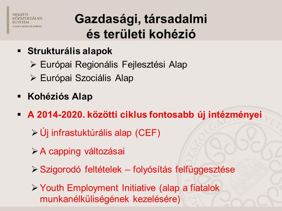 Gazdasági, társadalmi és területi kohézió