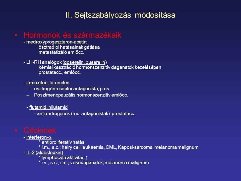 II. Sejtszabályozás módosítása