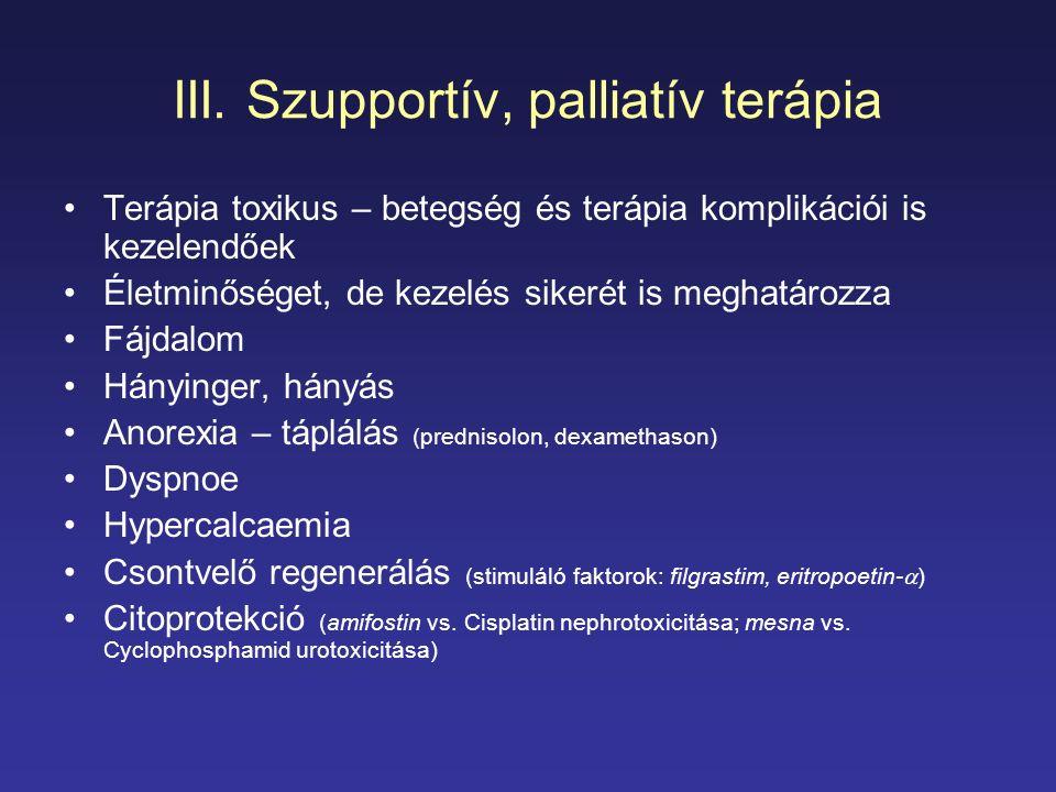 III. Szupportív, palliatív terápia
