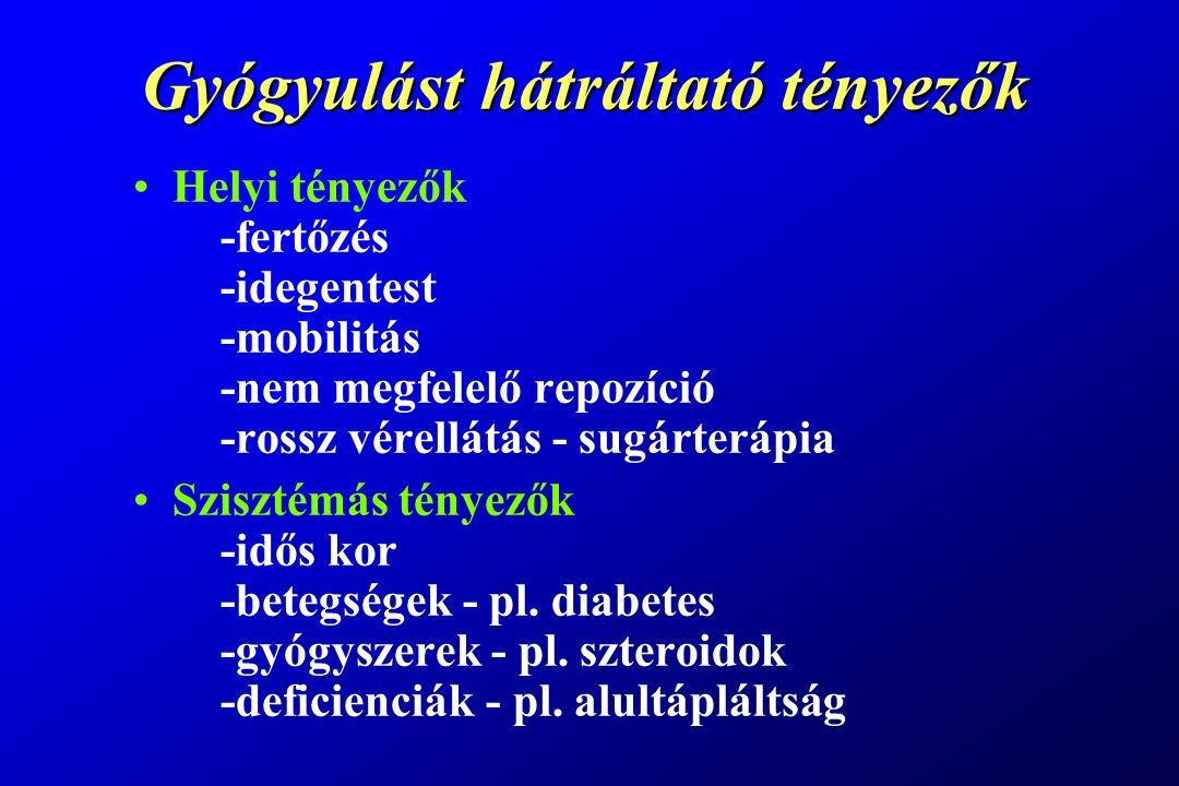 Gyógyulást hátráltató tényezők