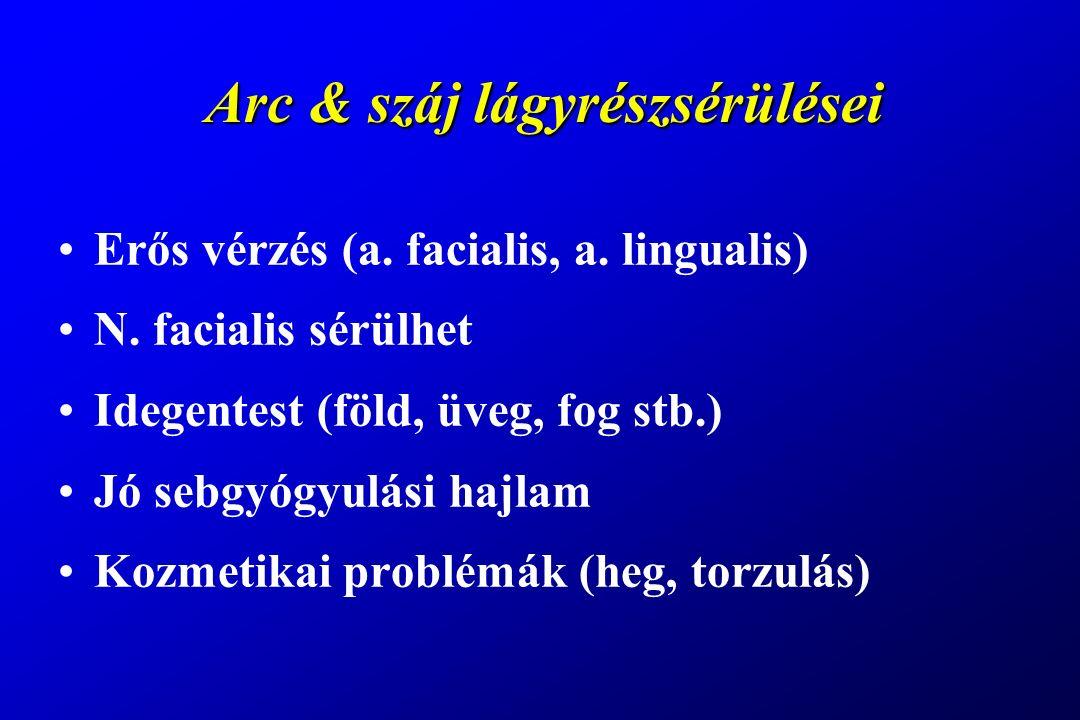 Arc & száj lágyrészsérülései