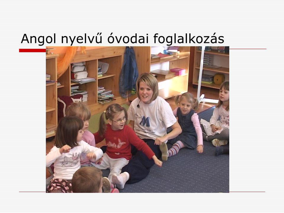 Angol nyelvű óvodai foglalkozás