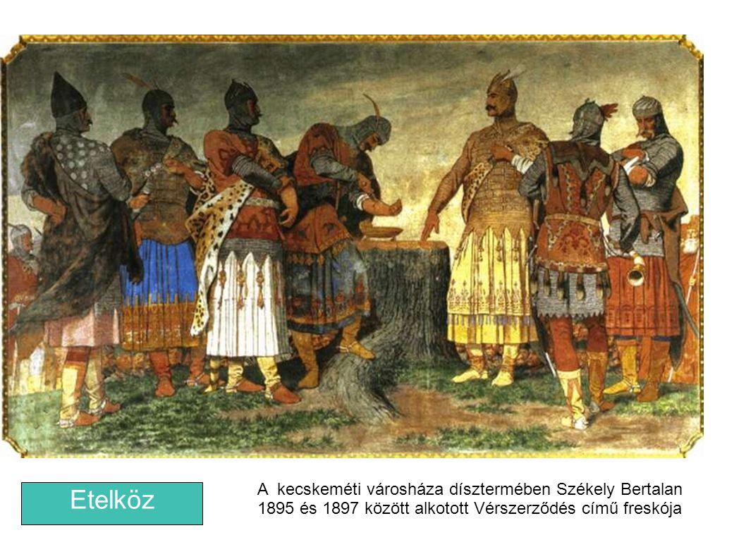 A kecskeméti városháza dísztermében Székely Bertalan 1895 és 1897 között alkotott Vérszerződés című freskója