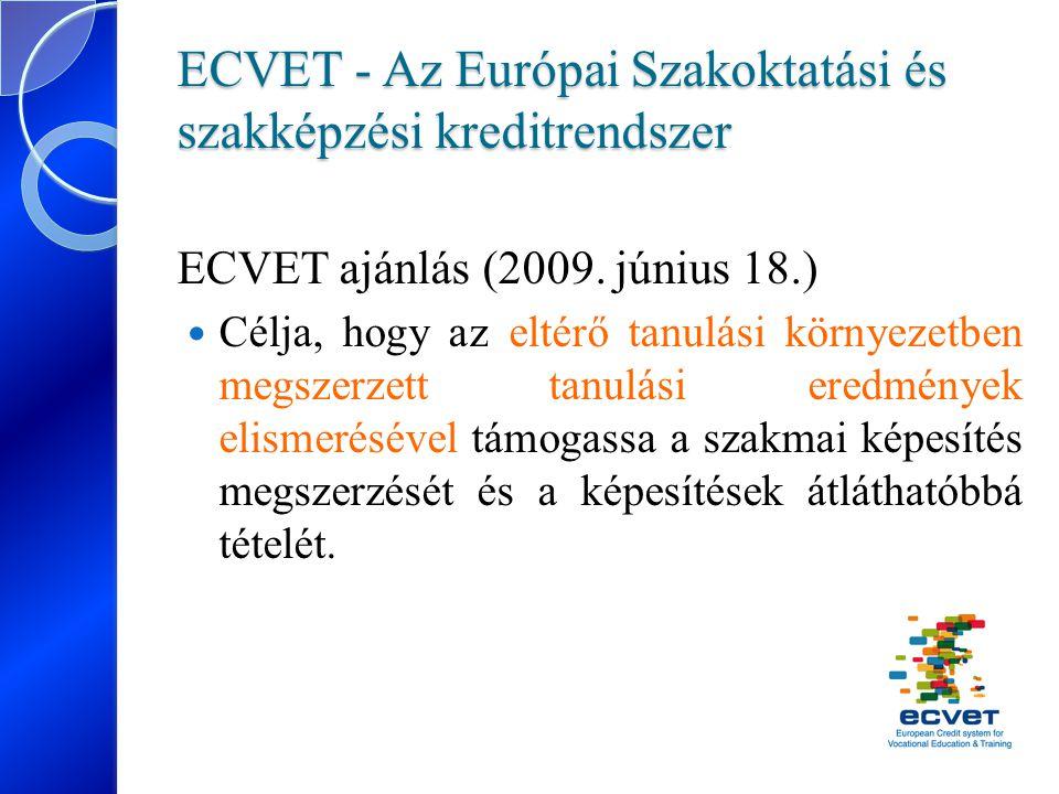 ECVET - Az Európai Szakoktatási és szakképzési kreditrendszer
