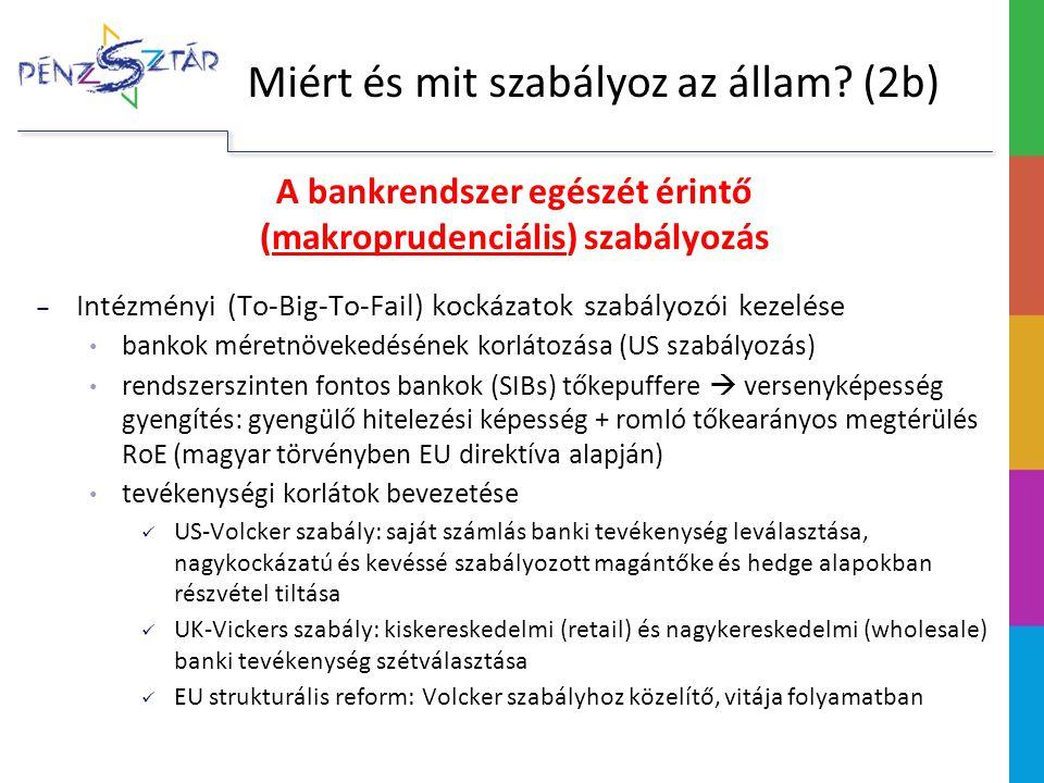 A bankrendszer egészét érintő (makroprudenciális) szabályozás