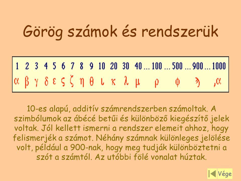Görög számok és rendszerük