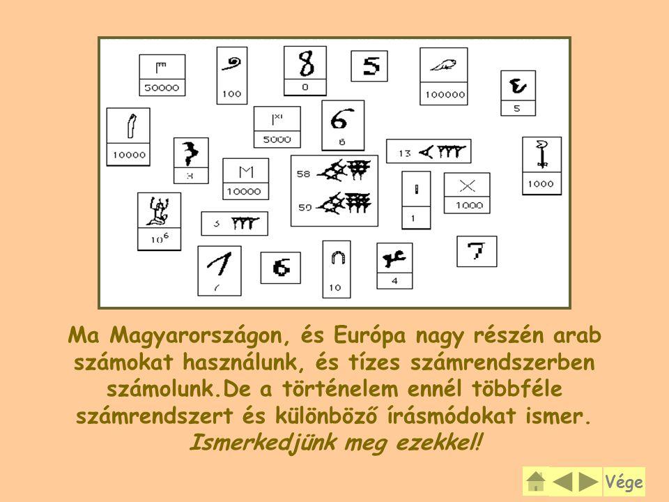 Ma Magyarországon, és Európa nagy részén arab számokat használunk, és tízes számrendszerben számolunk.De a történelem ennél többféle számrendszert és különböző írásmódokat ismer. Ismerkedjünk meg ezekkel!