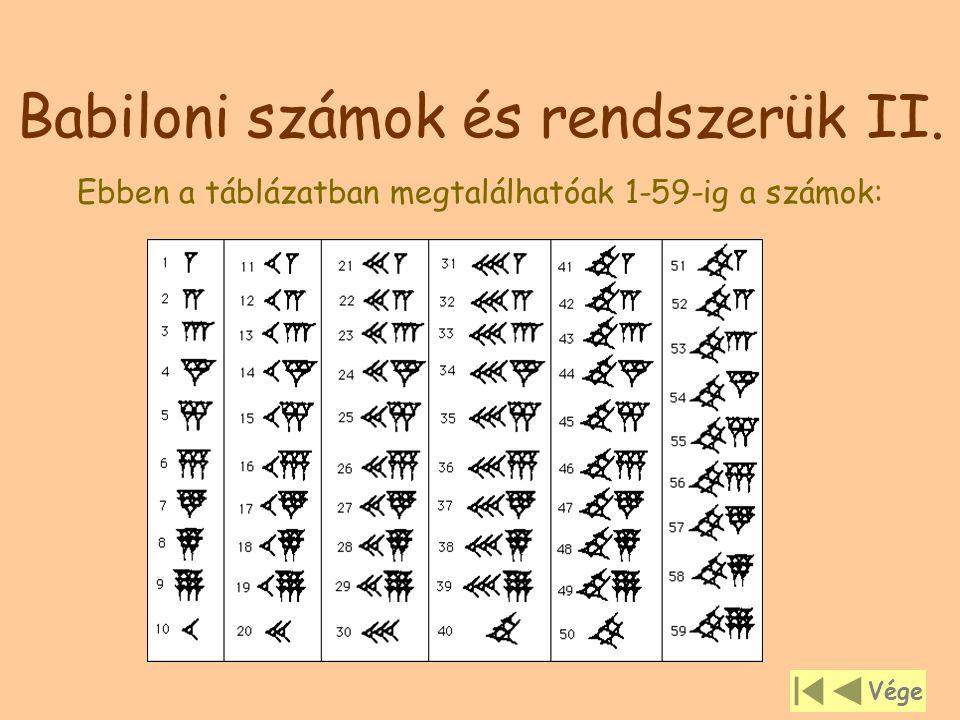 Babiloni számok és rendszerük II.