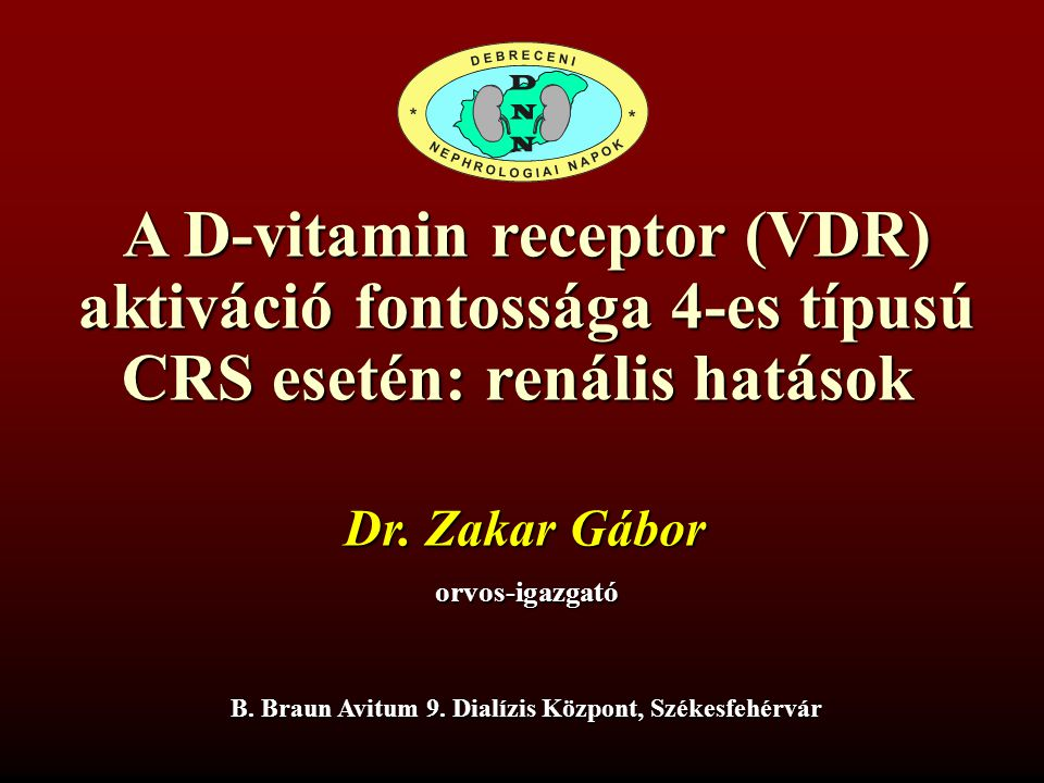A D-vitamin receptor (VDR) aktiváció fontossága 4-es típusú